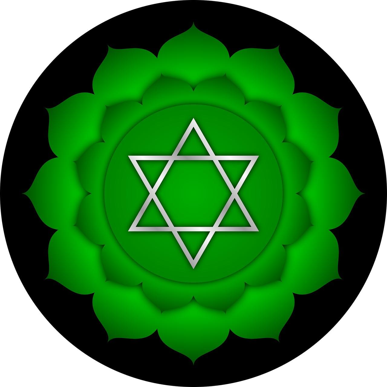 Le chakra du coeur est situé au creux du sternum